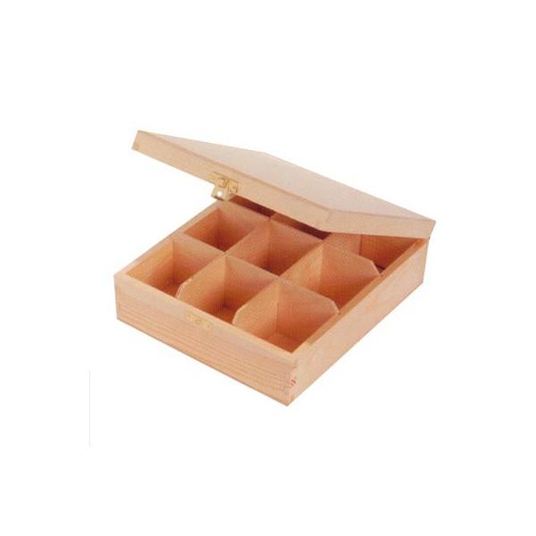 Bo te th 9 compartiments activit s manuelles - Boite a the 9 compartiments ...