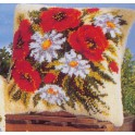 Coussin coquelicots