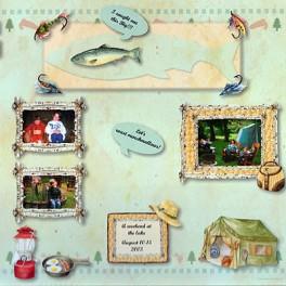 Kit scrapbooking thème camping