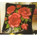 Coussin Roses rouges
