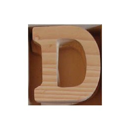 Lettre en bois : D