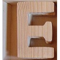 Lettre en bois : E