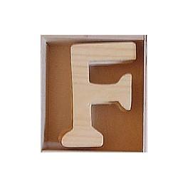 Lettre en bois : F