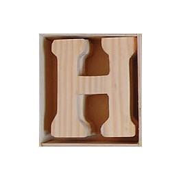 Lettre en bois : H