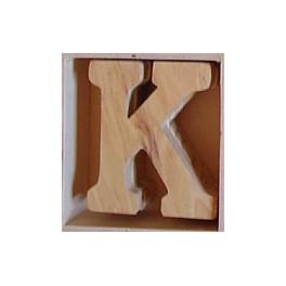 Lettre en bois : K