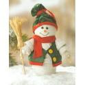 Kit pots en terre cuite Bonhomme de neige