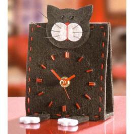 Kit horloge chat noir