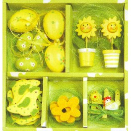 Set de Pâques jaune et vert