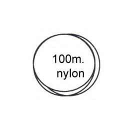 Bobine nylon 0.22 100 mètres transparent