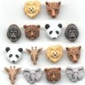 Sachet têtes d'animaux sauvages