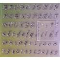 Tampons transparents alphabet