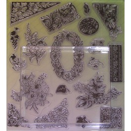 Tampons transparents fleurs