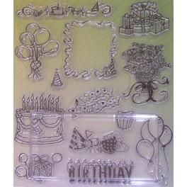 Tampons transparents anniversaire