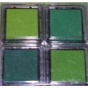 Tampons encreurs verts