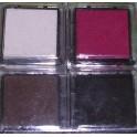Tampons encreurs blanc/noir/brun