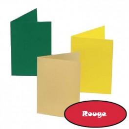 5 cartes 10.5 x 15 cm rouge