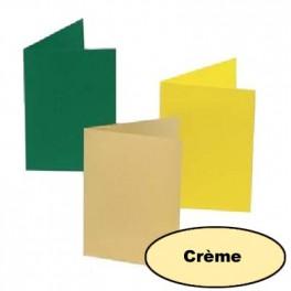 5 cartes 10.5 x 15 cm crème
