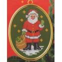 Père Noël avec sa hotte et son cadre doré