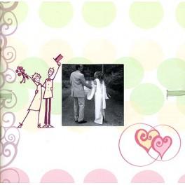 Mini album mariage heureux