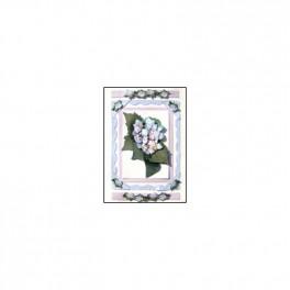 Kit 2 cartes 3D hortensia bleu