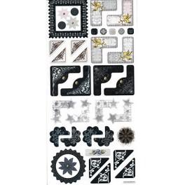 Stickers coins noir/blanc