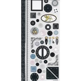 Stickers décors noir/blanc