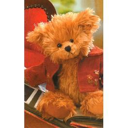 Fabio avec veste en velours rouge