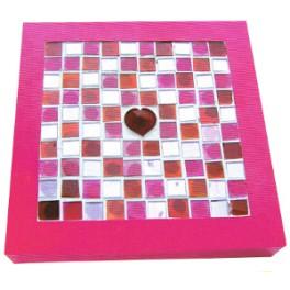 Kit mosaïque boîte à bijoux rose
